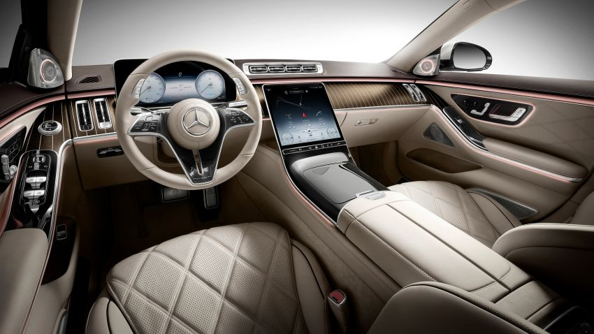Z223 Mercedes-Maybach S-Class debuts – ultra-posh, tech-loaded flagship limo with 3,396 mm wheelbase Image #1214040