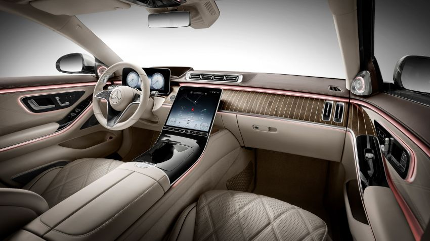 Z223 Mercedes-Maybach S-Class debuts – ultra-posh, tech-loaded flagship limo with 3,396 mm wheelbase Image #1214042