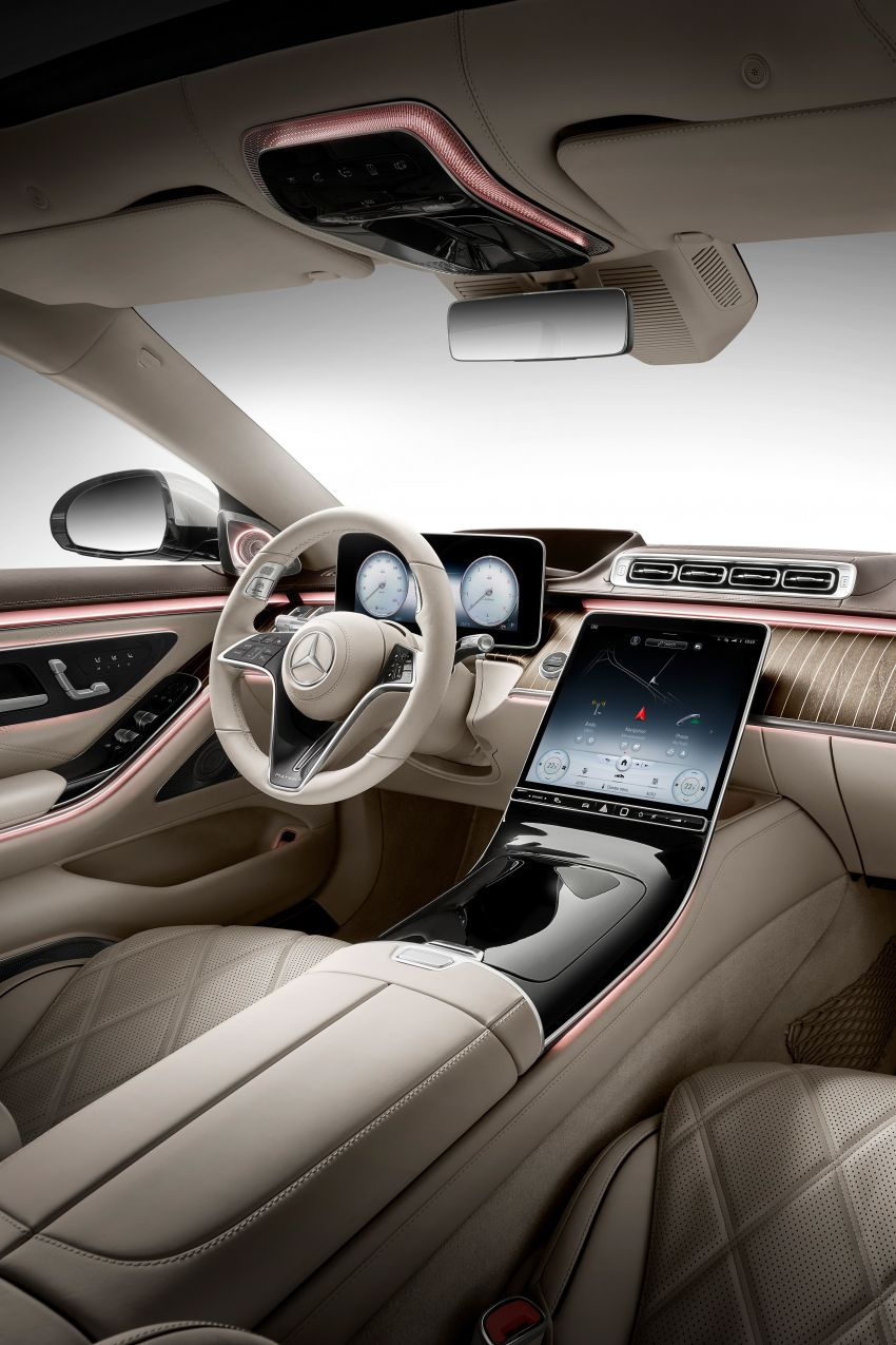 Z223 Mercedes-Maybach S-Class debuts – ultra-posh, tech-loaded flagship limo with 3,396 mm wheelbase Image #1214046