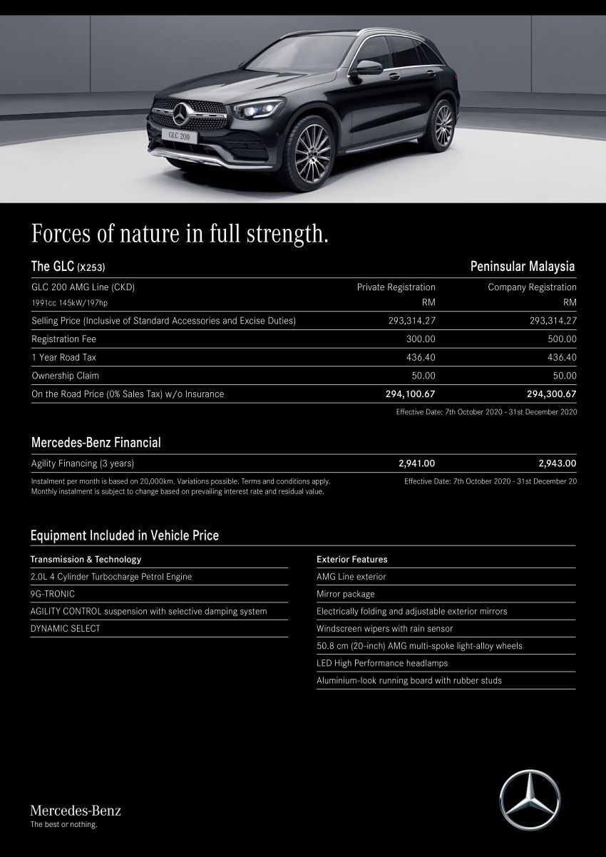 X253 Mercedes-Benz GLC 200 facelift gains AMG Line kit, keyless entry – price up by RM7.7k; RM294,100 Image #1228923