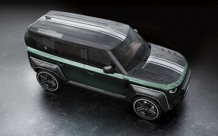 Land Rover Defender Racing Green Edition by Carlex Design – brown and green-themed SUV; RM420k Image #1220517