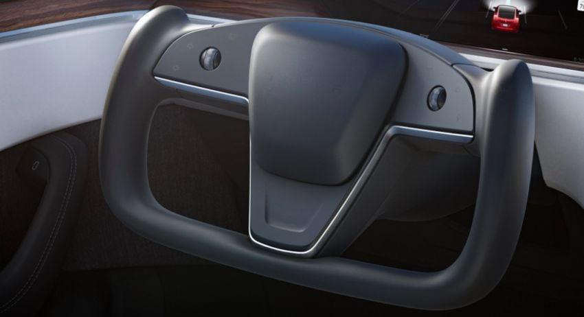 2021 Tesla Model S facelift – new interior with half-rim steering yoke, onboard gaming computer, 1,020 hp Image #1241430
