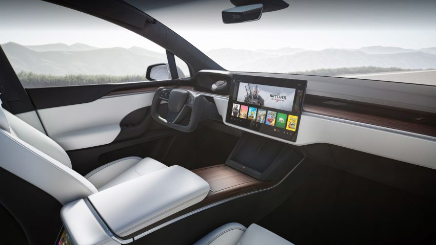 2021 Tesla Model X facelift – new 1,020 hp Plaid model, 0-96 km/h in 2.5s; gaming-capable infotainment system Image #1241716