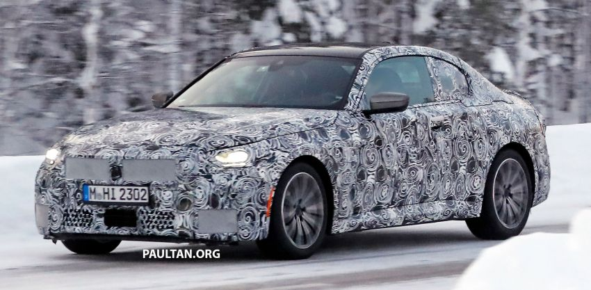 SPYSHOTS: 2021 BMW 2 Series Coupe on winter test Image #1238506