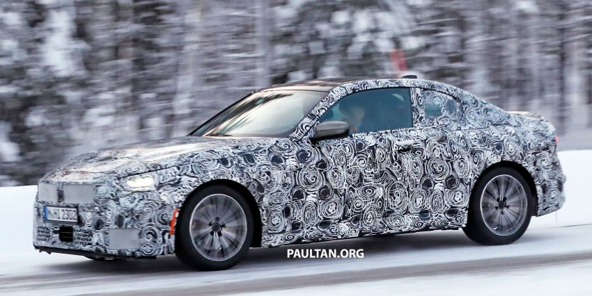 SPYSHOTS: 2021 BMW 2 Series Coupe on winter test Image #1238508