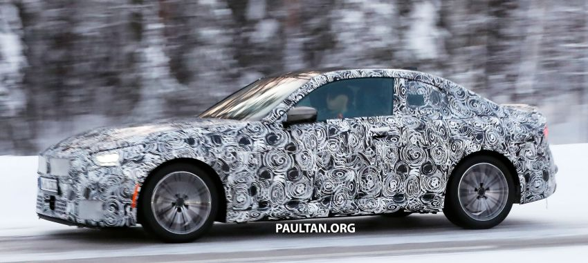 SPYSHOTS: 2021 BMW 2 Series Coupe on winter test Image #1238509
