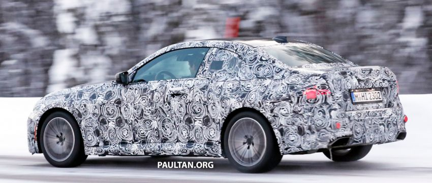 SPYSHOTS: 2021 BMW 2 Series Coupe on winter test Image #1238512