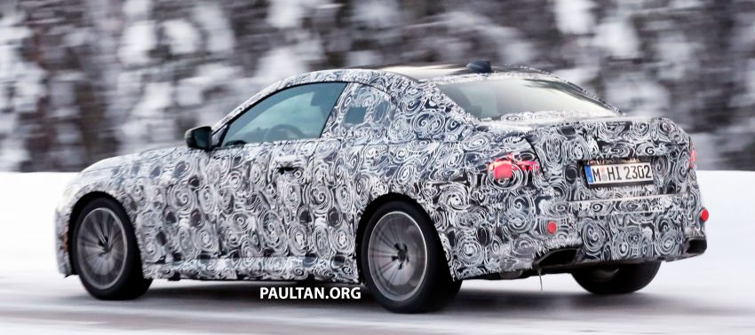 SPYSHOTS: 2021 BMW 2 Series Coupe on winter test Image #1238514