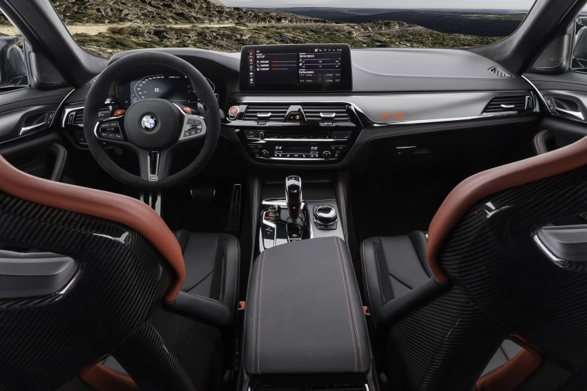 BMW M5 CS – 635 hp/750 Nm, 0-100 km/h in three seconds; more carbon, less weight, four bucket seats Image #1259183