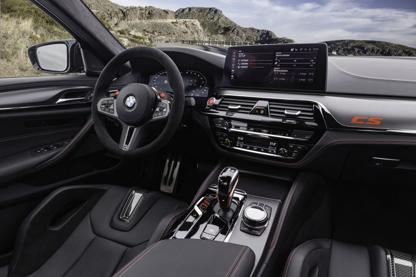 BMW M5 CS – 635 hp/750 Nm, 0-100 km/h in three seconds; more carbon, less weight, four bucket seats Image #1259184