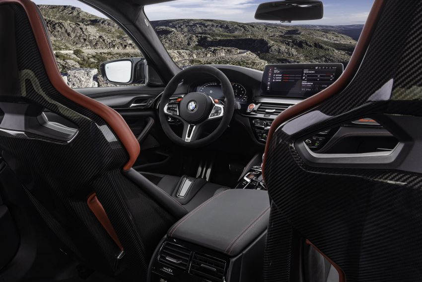 BMW M5 CS – 635 hp/750 Nm, 0-100 km/h in three seconds; more carbon, less weight, four bucket seats Image #1259186