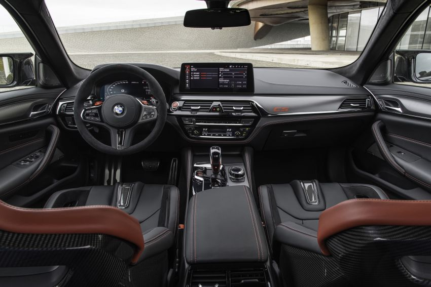BMW M5 CS – 635 hp/750 Nm, 0-100 km/h in three seconds; more carbon, less weight, four bucket seats Image #1259188