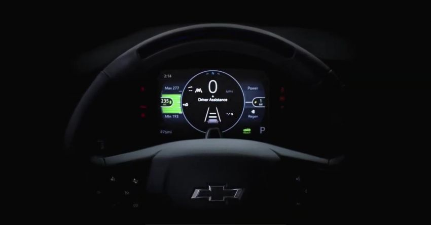 Chevrolet Bolt EUV teased again – digital gauge shown Image #1234176