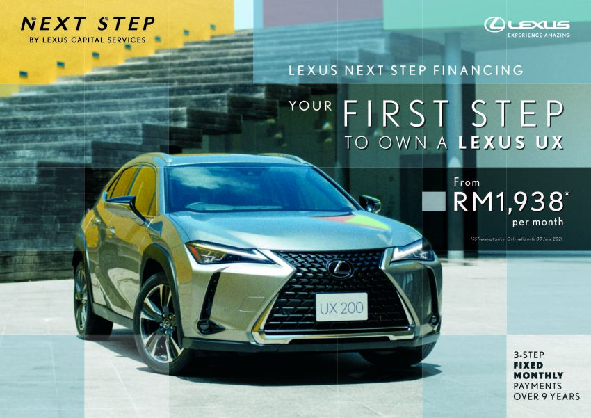 Lexus Malaysia announces Next Step financing plan – own a new Lexus UX from as low as RM1,938 a month Image #1234321