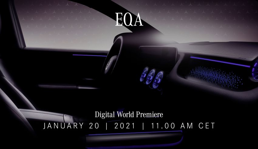 Mercedes-Benz EQA teased ahead of January 20 debut – EQA250 with 190 PS confirmed; first look at interior Image #1235757