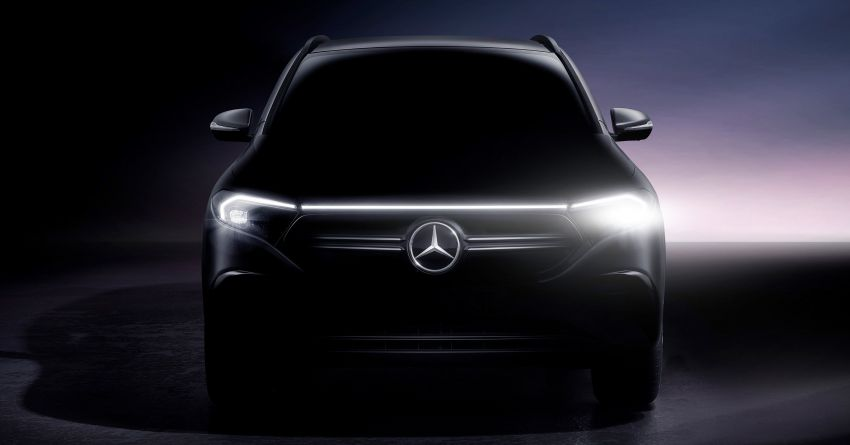 Mercedes-Benz EQA teased again before Jan 20 debut – early details reveal 401 km EV range, 66 kWh battery Image #1236419