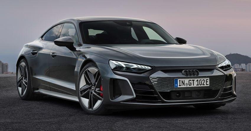 2021 Audi e-tron GT quattro, RS e-tron GT debut – two motors, up to 646 PS, 0-100 in 3.3 secs; 487 km range Image #1246429
