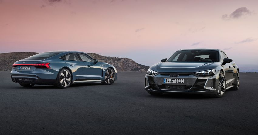 2021 Audi e-tron GT quattro, RS e-tron GT debut – two motors, up to 646 PS, 0-100 in 3.3 secs; 487 km range Image #1246430