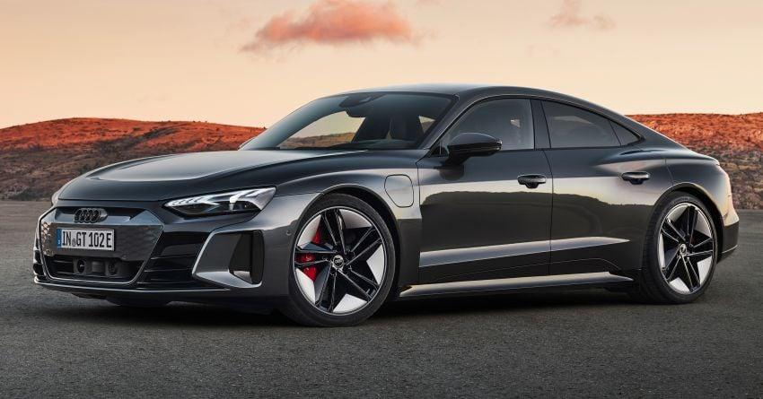 2021 Audi e-tron GT quattro, RS e-tron GT debut – two motors, up to 646 PS, 0-100 in 3.3 secs; 487 km range Image #1246431
