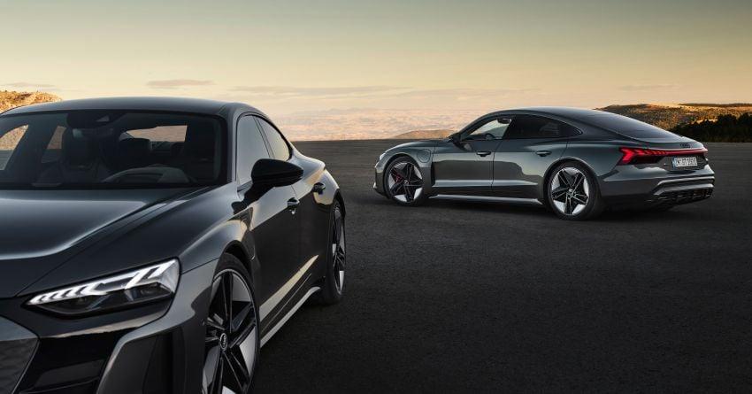2021 Audi e-tron GT quattro, RS e-tron GT debut – two motors, up to 646 PS, 0-100 in 3.3 secs; 487 km range Image #1246433