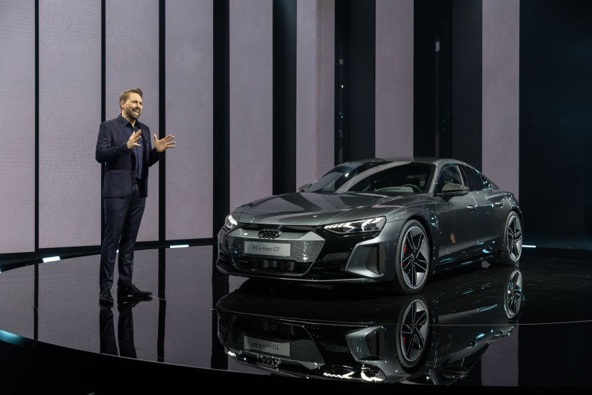 2021 Audi e-tron GT quattro, RS e-tron GT debut – two motors, up to 646 PS, 0-100 in 3.3 secs; 487 km range Image #1246490
