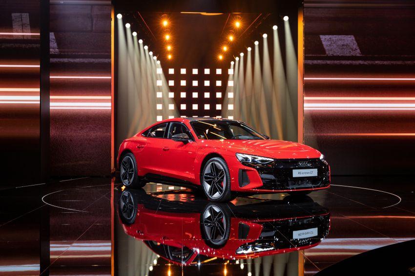 2021 Audi e-tron GT quattro, RS e-tron GT debut – two motors, up to 646 PS, 0-100 in 3.3 secs; 487 km range Image #1246453