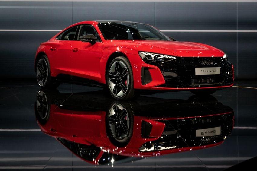 2021 Audi e-tron GT quattro, RS e-tron GT debut – two motors, up to 646 PS, 0-100 in 3.3 secs; 487 km range Image #1246454