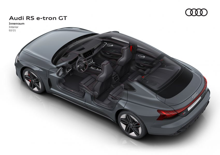 2021 Audi e-tron GT quattro, RS e-tron GT debut – two motors, up to 646 PS, 0-100 in 3.3 secs; 487 km range Image #1246581