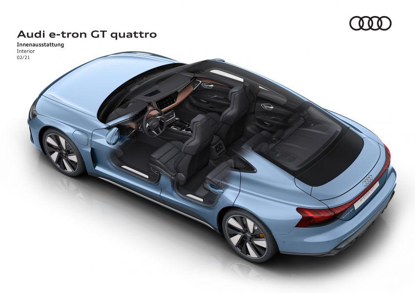 2021 Audi e-tron GT quattro, RS e-tron GT debut – two motors, up to 646 PS, 0-100 in 3.3 secs; 487 km range Image #1246613