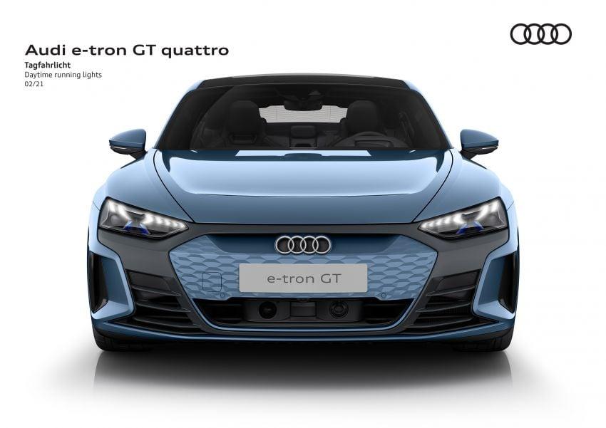 2021 Audi e-tron GT quattro, RS e-tron GT debut – two motors, up to 646 PS, 0-100 in 3.3 secs; 487 km range Image #1246627