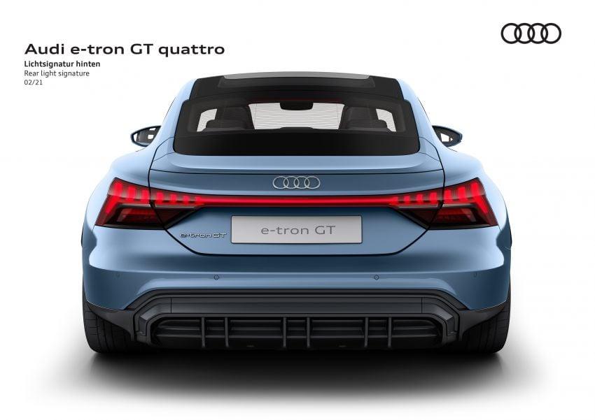 2021 Audi e-tron GT quattro, RS e-tron GT debut – two motors, up to 646 PS, 0-100 in 3.3 secs; 487 km range Image #1246628