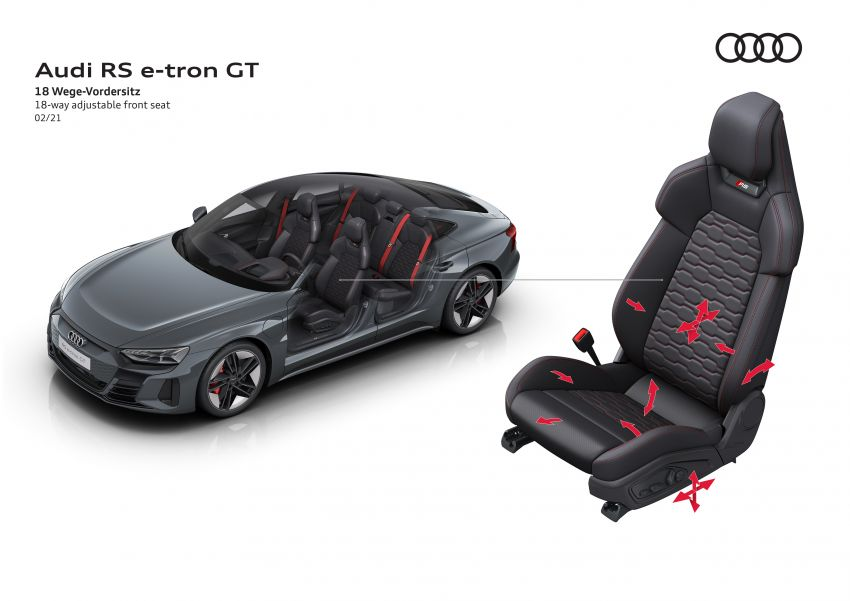 2021 Audi e-tron GT quattro, RS e-tron GT debut – two motors, up to 646 PS, 0-100 in 3.3 secs; 487 km range Image #1246637