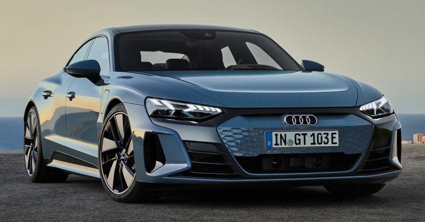 2021 Audi e-tron GT quattro, RS e-tron GT debut – two motors, up to 646 PS, 0-100 in 3.3 secs; 487 km range Image #1246399