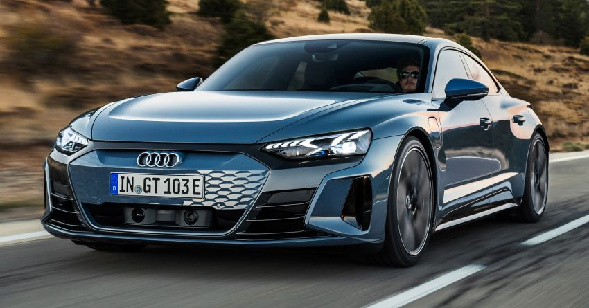 2021 Audi e-tron GT quattro, RS e-tron GT debut – two motors, up to 646 PS, 0-100 in 3.3 secs; 487 km range Image #1246411