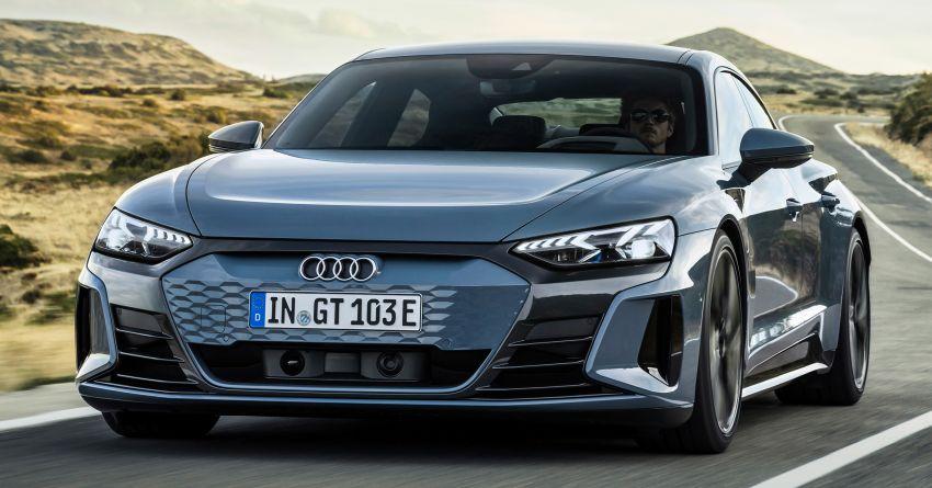 2021 Audi e-tron GT quattro, RS e-tron GT debut – two motors, up to 646 PS, 0-100 in 3.3 secs; 487 km range Image #1246412