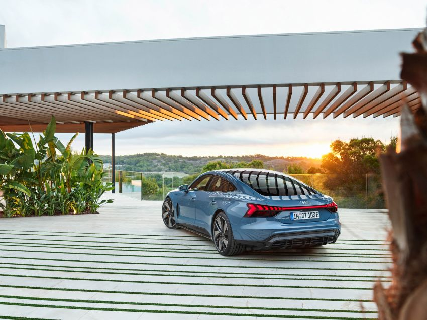 2021 Audi e-tron GT quattro, RS e-tron GT debut – two motors, up to 646 PS, 0-100 in 3.3 secs; 487 km range Image #1246414