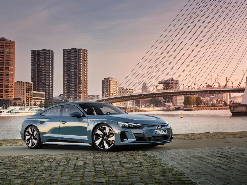 2021 Audi e-tron GT quattro, RS e-tron GT debut – two motors, up to 646 PS, 0-100 in 3.3 secs; 487 km range Image #1246400