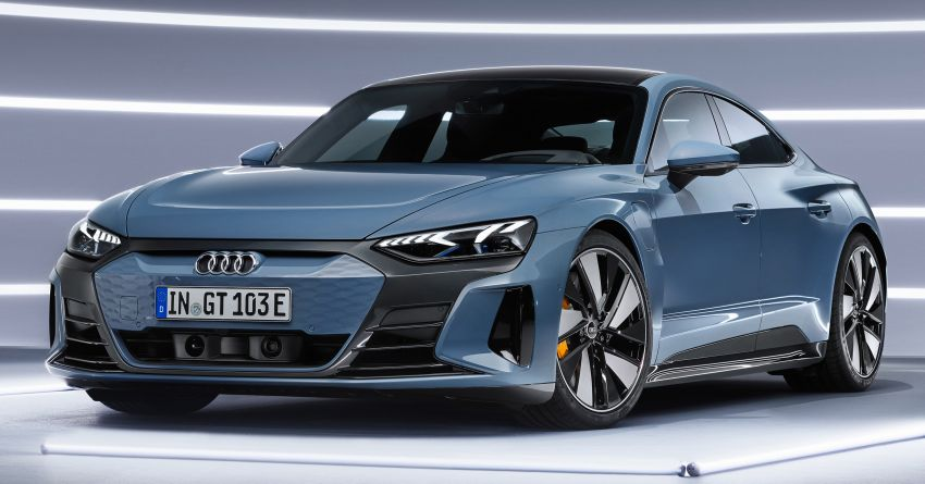 2021 Audi e-tron GT quattro, RS e-tron GT debut – two motors, up to 646 PS, 0-100 in 3.3 secs; 487 km range Image #1246425