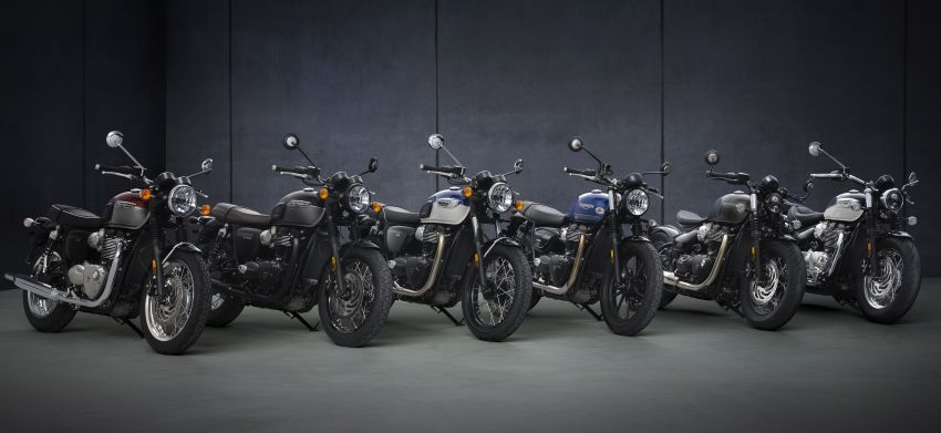2021 Triumph Bonneville range gets model updates Image #1253233