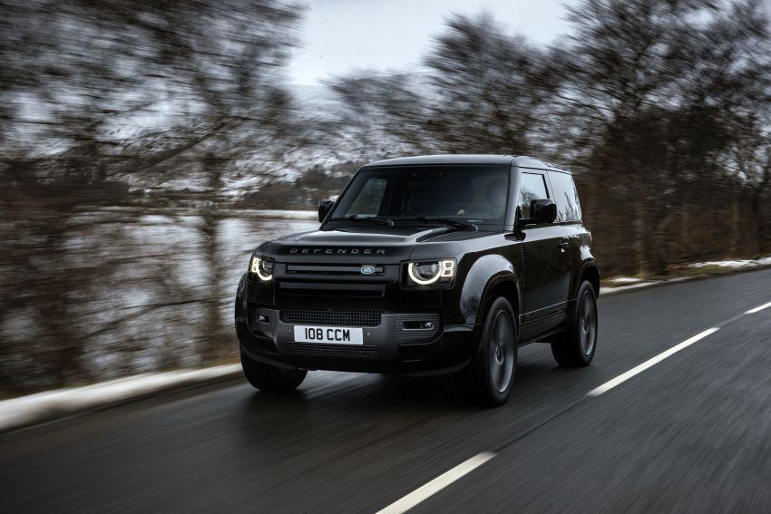 2022 Land Rover Defender V8 – 525 PS, 625 Nm; model range gets optional 11.4-inch touchscreen upgrade Image #1253690