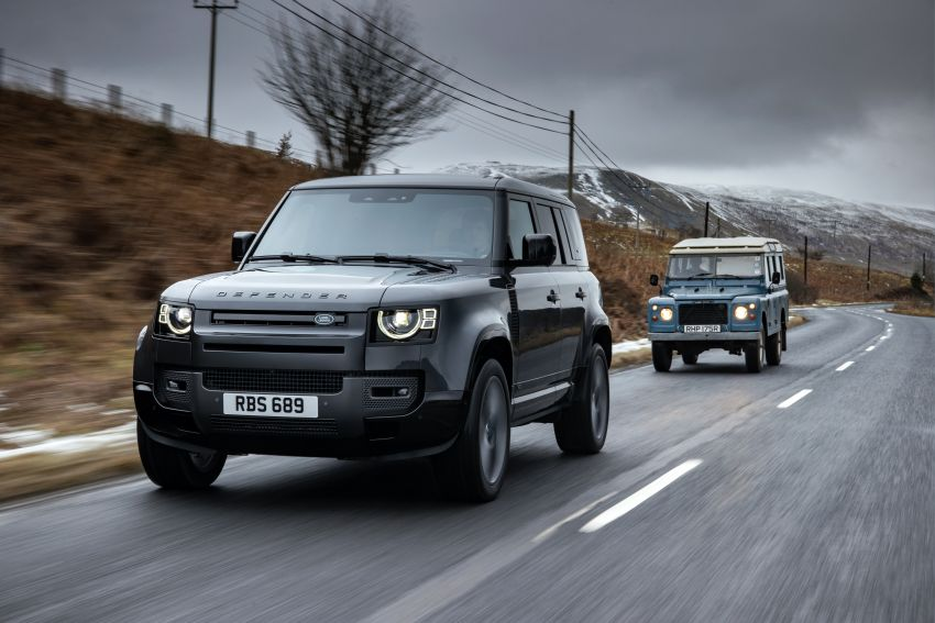 2022 Land Rover Defender V8 – 525 PS, 625 Nm; model range gets optional 11.4-inch touchscreen upgrade Image #1253740