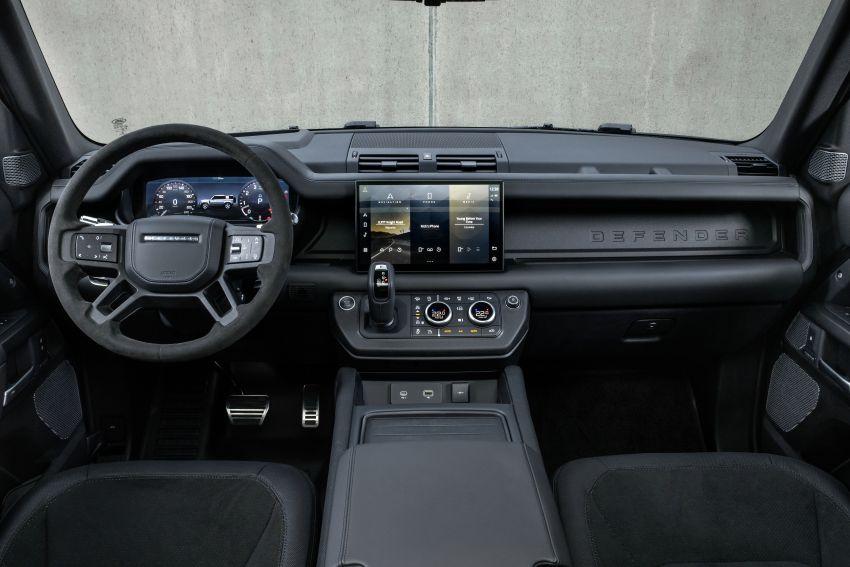 2022 Land Rover Defender V8 – 525 PS, 625 Nm; model range gets optional 11.4-inch touchscreen upgrade Image #1253804