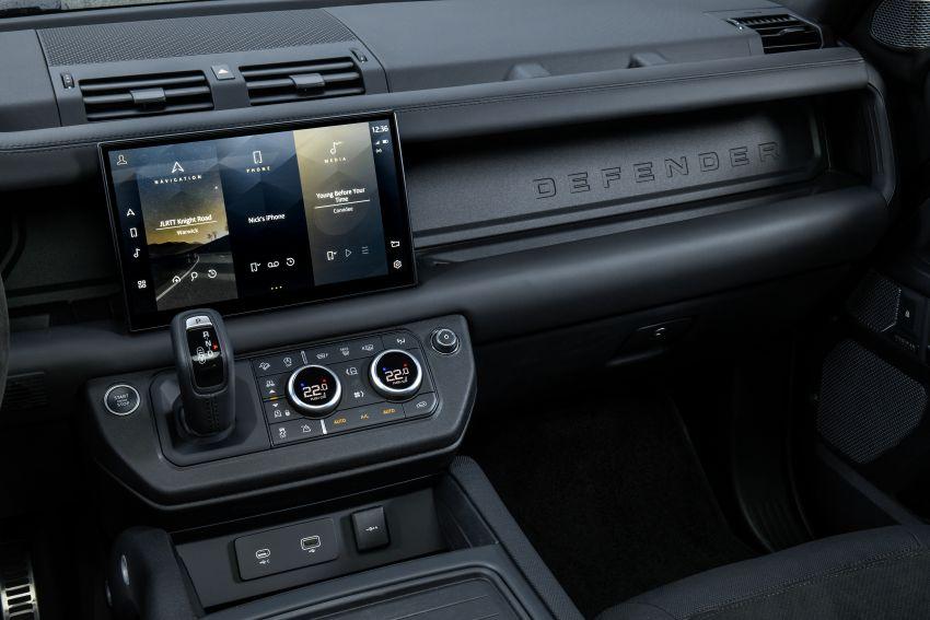 2022 Land Rover Defender V8 – 525 PS, 625 Nm; model range gets optional 11.4-inch touchscreen upgrade Image #1253803