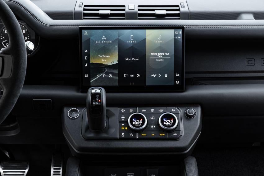 2022 Land Rover Defender V8 – 525 PS, 625 Nm; model range gets optional 11.4-inch touchscreen upgrade Image #1253799
