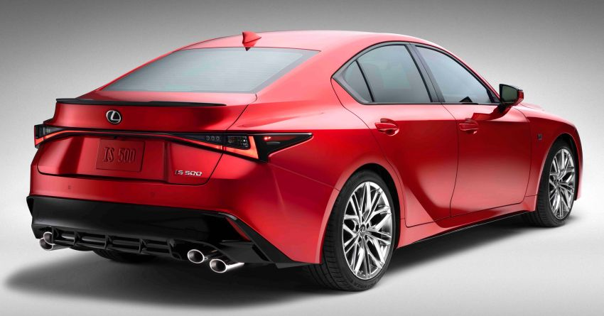 2022 Lexus IS 500 F Sport Performance revealed – sports sedan with a 5.0L NA V8; 472 hp and 535 Nm Image #1252058