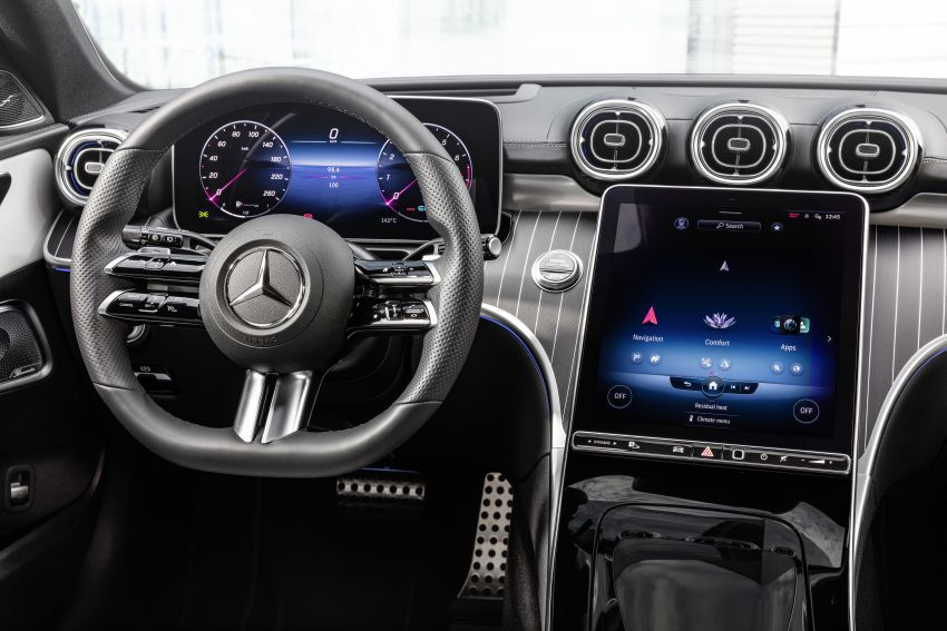 2022 W206 Mercedes-Benz C-Class debuts – tech from S-Class, MBUX, PHEV with 100 km all-electric range Image #1252748
