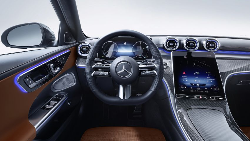 2022 W206 Mercedes-Benz C-Class debuts – tech from S-Class, MBUX, PHEV with 100 km all-electric range Image #1252713