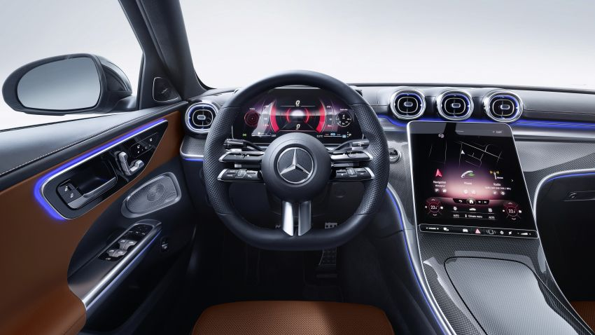 2022 W206 Mercedes-Benz C-Class debuts – tech from S-Class, MBUX, PHEV with 100 km all-electric range Image #1252714