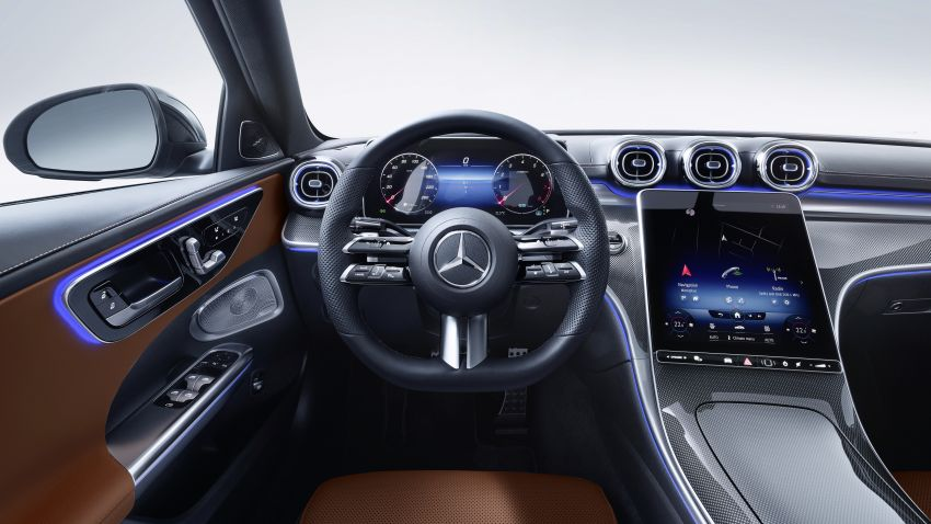 2022 W206 Mercedes-Benz C-Class debuts – tech from S-Class, MBUX, PHEV with 100 km all-electric range Image #1252715