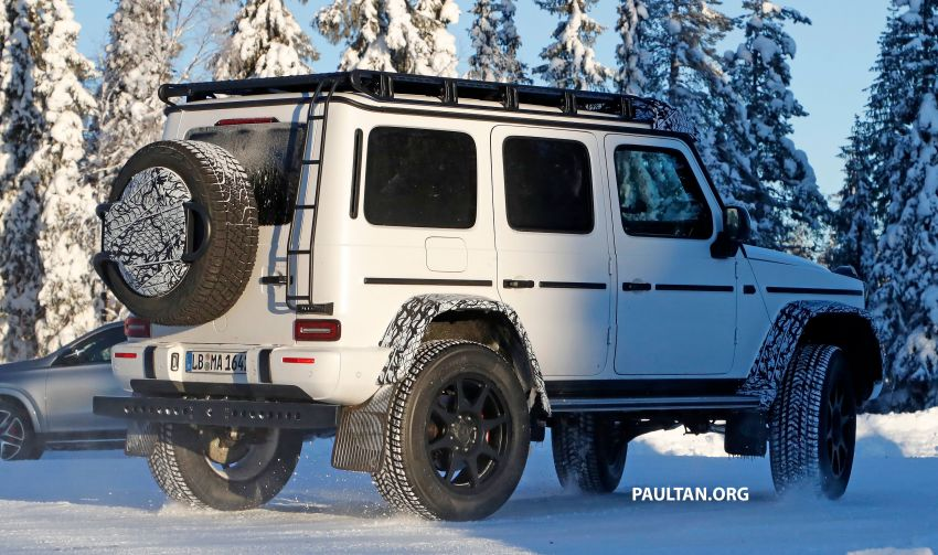 SPIED: W464 Mercedes-Benz G-Class 4×4² on test Image #1242417